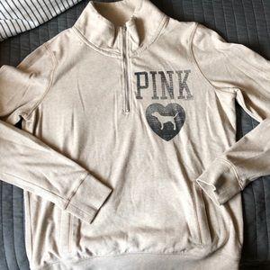 Half zip mock sweatshirt